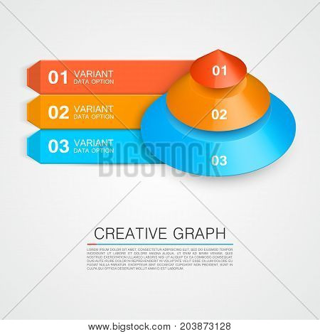 Pyramid icon for business creative graph. Vector illustration