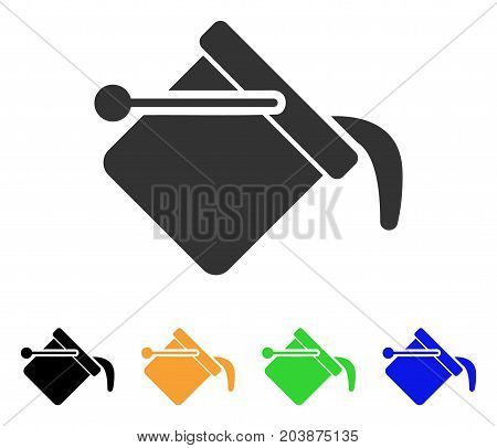 Paint Bucket icon. Vector illustration style is a flat iconic paint bucket symbol with black, grey, green, blue, yellow color variants. Designed for web and software interfaces.
