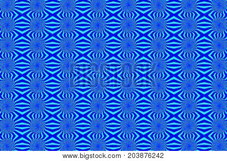 Striped abstract circle - pattern vector - blue