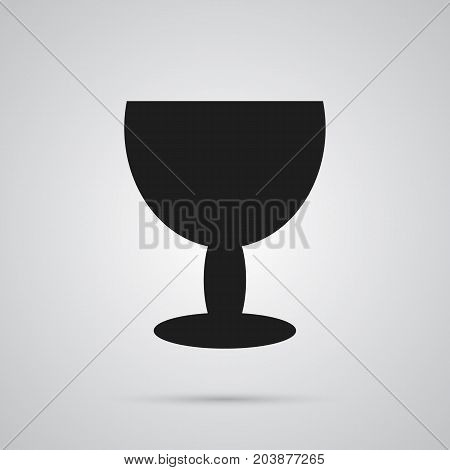 Vector Goblet Element In Trendy Style.  Isolated Fragile Icon Symbol On Clean Background.
