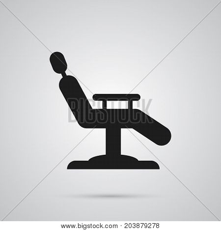 Vector Armchair Element In Trendy Style.  Isolated Chair Icon Symbol On Clean Background.