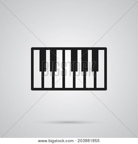 Isolated Piano Keys Icon Symbol On Clean Background