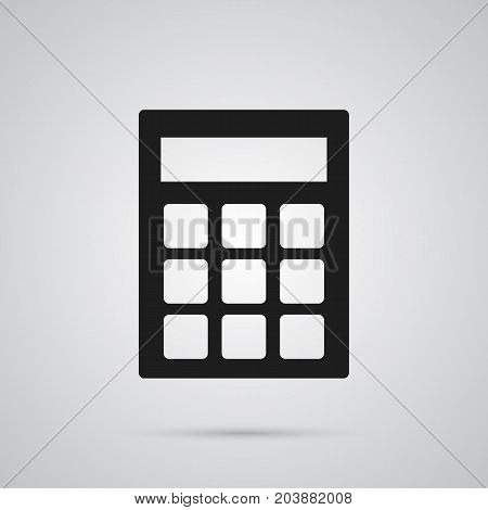Vector Calculate  Element In Trendy Style.  Isolated Calculator Icon Symbol On Clean Background.