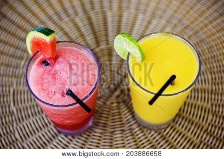 Fresh Mango And Watermelon Smoothie