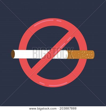 Anti tobacco day. World no tobacco day May 31st. No smoking sign. Vector stock.