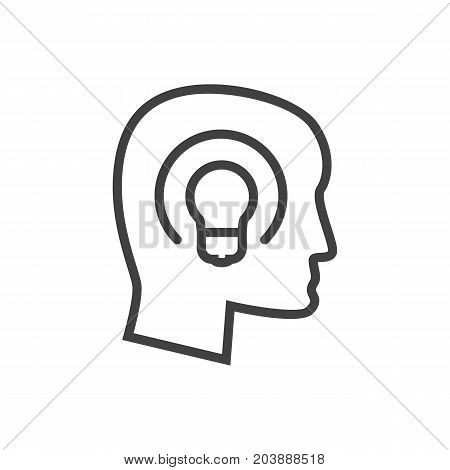 Vector Concept Element In Trendy Style.  Isolated Idea Outline Symbol On Clean Background.