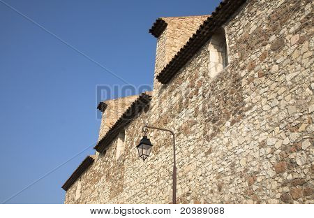 Chateau des Abbes de Lerins outside wall in Cannes