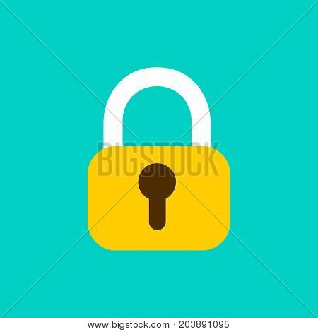 Lock closed isolated. Security padlock icon. Vector stock.