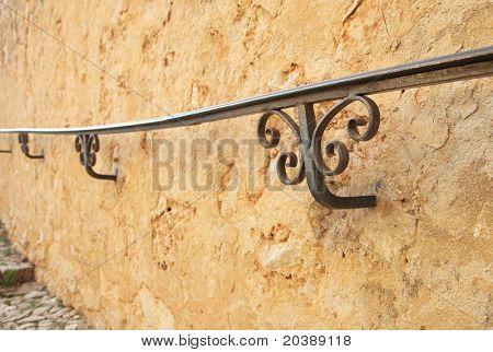 wall of the Fort de L'Ile Sainte-Marguerite, Cannes, France