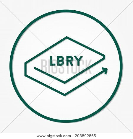 Lbry Coin Cryptocurrency. Vector Sign Icon. Internet Money