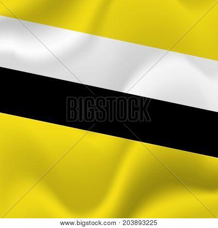 Brunei waving flag. Waving flag. Vector illustration.