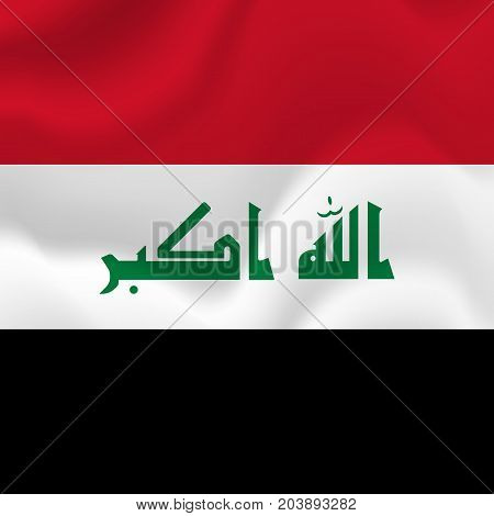 Iraq waving flag. Waving flag. Vector illustration.