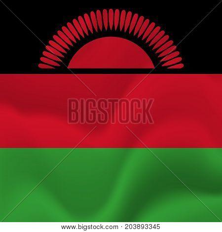 Malawi waving flag. Waving flag. Vector illustration.