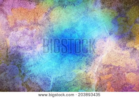 Stone Texture With Multicoloured Paint Effect