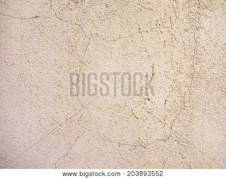 Concrete, Weathered, Worn Wall Damageconcrete, Weathered, Worn With Cracks And Scratches. Rough Conc