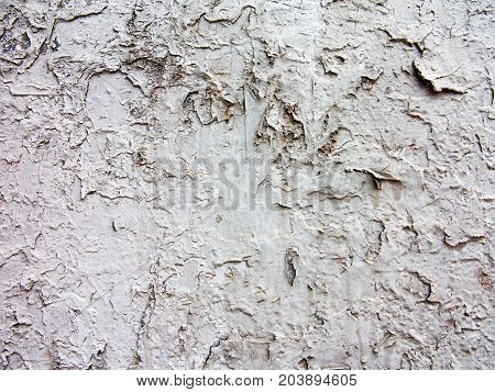 Concrete, Weathered, Worn With Cracks And Scratches. Rough Concrete Surface. Great Background Or Tex