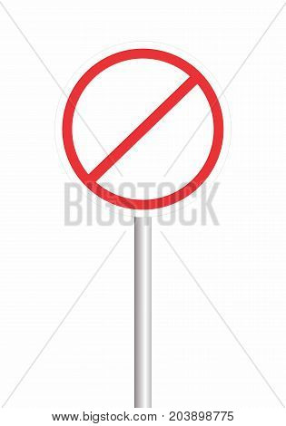 Vector illustration of an empty prohibition sign