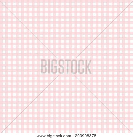 Cute pink gingham seamless pattern, background. Scrapbooking, textile surface design