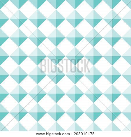 Seamless Turquoise Diamond Shape Stud Pattern Background