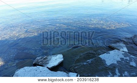 Crystal clear water at Cedar Point State Park