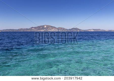 View of seascape in a Zakynthos Greece