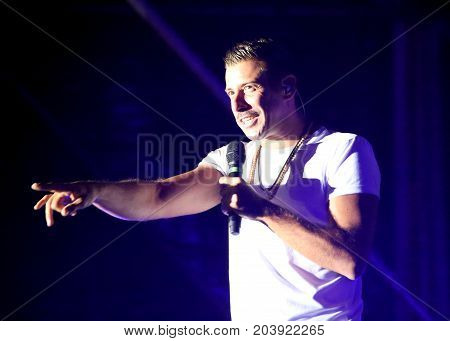 Vicenza, Vi, Italia - September 5, 2017: Live Concert Of Gabbani Francesco An Italian Singer-songwri