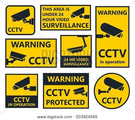 cctv sign, security camera stickers, video surveillance