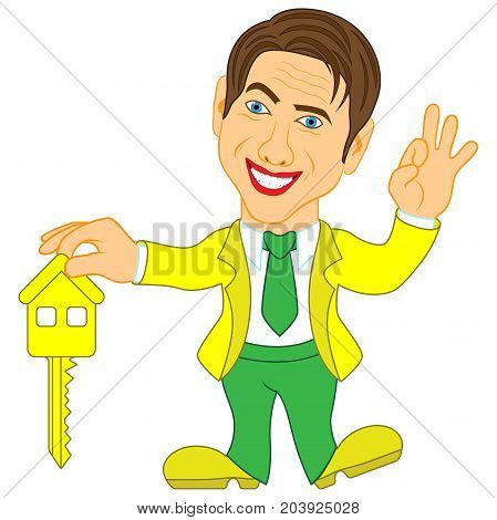 Men Holds A Key For House