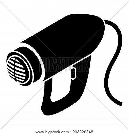 Heat power tool icon. Simple illustration of heat power tool vector icon for web design isolated on white background