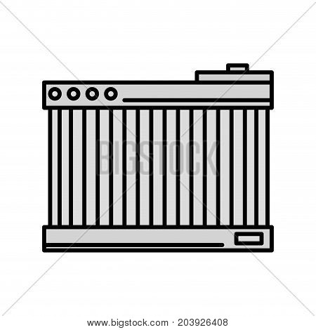 grayscale battery car service to mechanical repair vector illustration