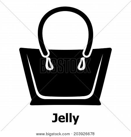 Jelly bag icon. Simple illustration of jelly bag vector icon for web