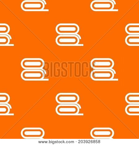 Fabric pattern repeat seamless in orange color for any design. Vector geometric illustration