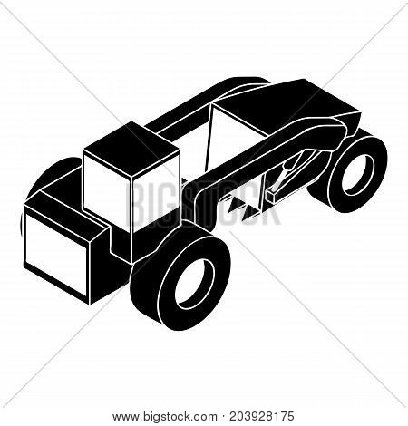 Heavy load truck icon. Simple illustration of heavy load truck vector icon for web design isolated on white background