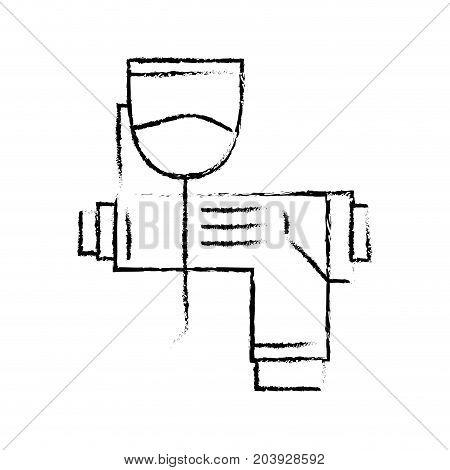 figure pistol oil injector element to car service vector illustration poster