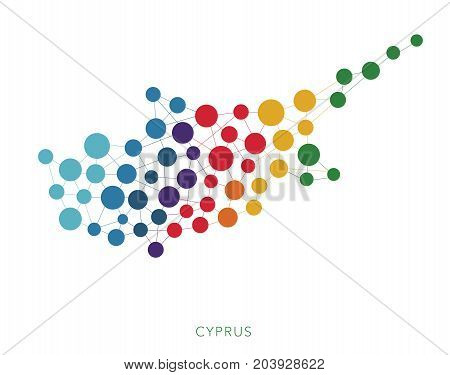 dotted texture Cyprus vector rainbow colorful background