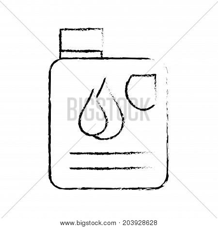 figure gasoline bottle with drops to car industrial vector illustration