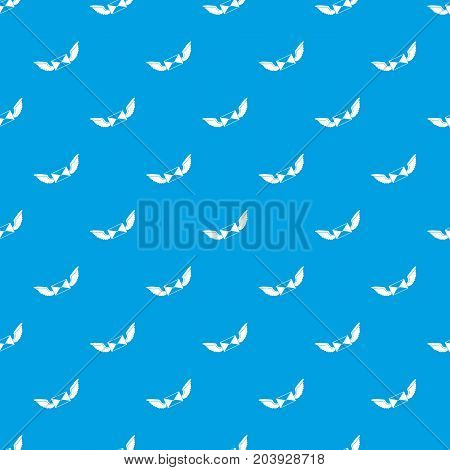 Love letter pattern repeat seamless in blue color for any design. Vector geometric illustration