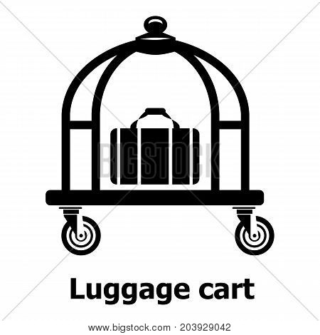 Luggage cart icon. Simple illustration of luggage cart vector icon for web
