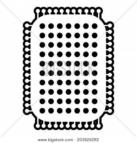 Foot sponge icon. Outline illustration of foot sponge vector icon for web design isolated on white background