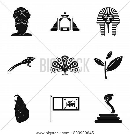 Mentality icons set. Simple set of 9 mentality vector icons for web isolated on white background