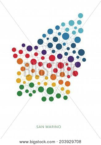 dotted texture San Marino vector rainbow colorful background