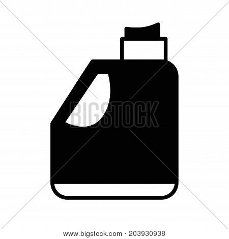 contour gasoline bottle to car industrial equipment vector illustration