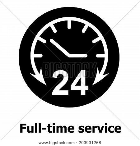 Full time service icon. Simple illustration of full time service vector icon for web
