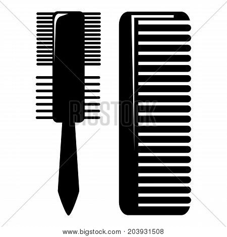 Hair comb icon . Simple illustration of hair comb vector icon for web design isolated on white background