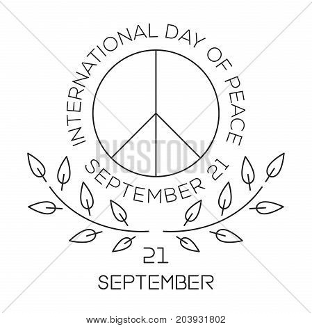 International Day of Peace. World Peace Day line logo design. September 21. Peace symbols. Vector illustration