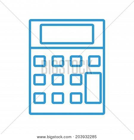 silhouette technology calculator tool to account economy vector illustration