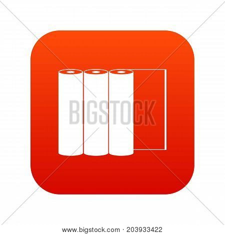 Rolls of paper icon digital red for any design isolated on white vector illustration