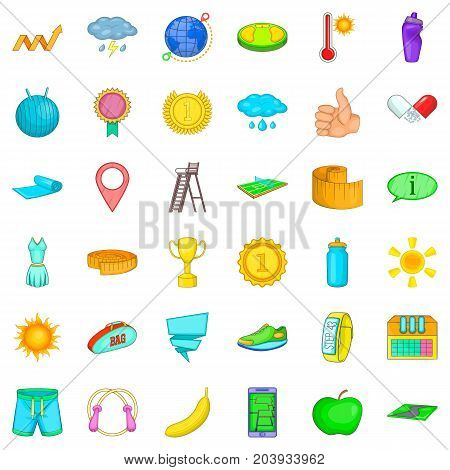 Whistle icons set. Cartoon style of 36 whistle vector icons for web isolated on white background