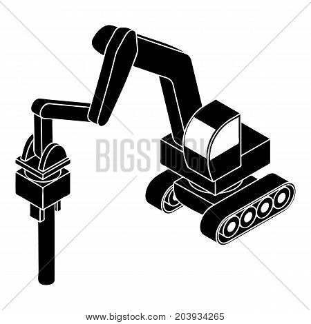Medium drill truck icon. Simple illustration of medium drill truck vector icon for web design isolated on white background