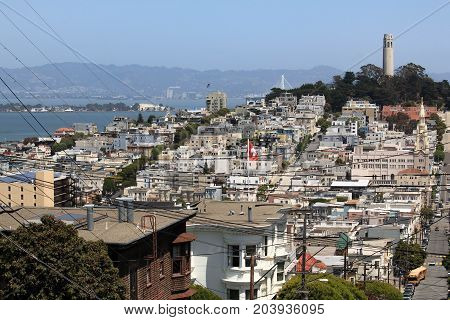 San Fransisco downtown  coit tower westküste usa